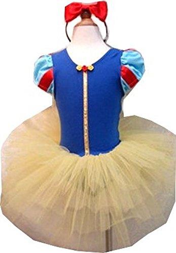 Snow White Inspired Costume - Snow White Tutu Dress and Headband 5-6 (Snow White Tutu Girls Costumes)
