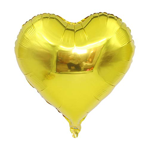 Hot 1Pcs 18Inch Star Heart Balloons Inflatable Helium Balloon Birthday Party Decorations Kids Wedding Christmas Supplies Globos Gold 18Inch]()
