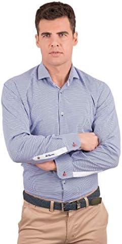 La Española Camisa de Vestir con Motivo de Pata de Gallo: Amazon.es: Ropa y accesorios