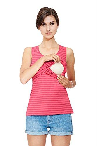 Milker - top d'allaitement Nan pink stripe (cap) taille L