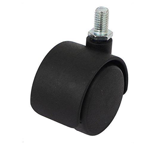 eDealMax 1/2-pouces Diamtre de la Tige filete Chaise de Bureau en Plastique Roulette Noire