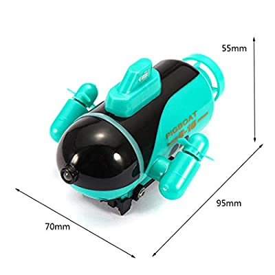 B bangcool Submarine Toy Remote Control Waterproof Diving in Water 4CH RC Boat Pool Toy