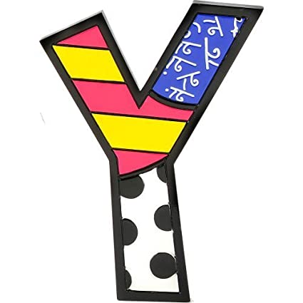 romero britto alphabet letters y by gift craft