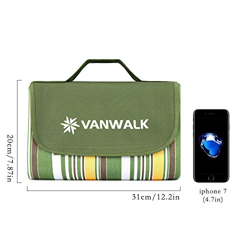 Outdoor Beach Mat Picnic Blanket – 70 x 56in – Compact ...