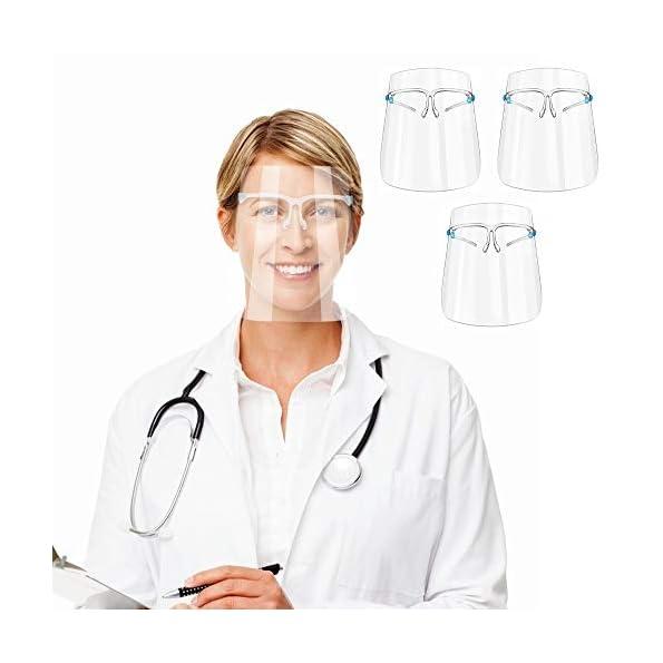3-Stck-Gesichtsschutz-aus-Kunststoff-Gesichtsschild-Schutzschild-Visier-Schutzvisier
