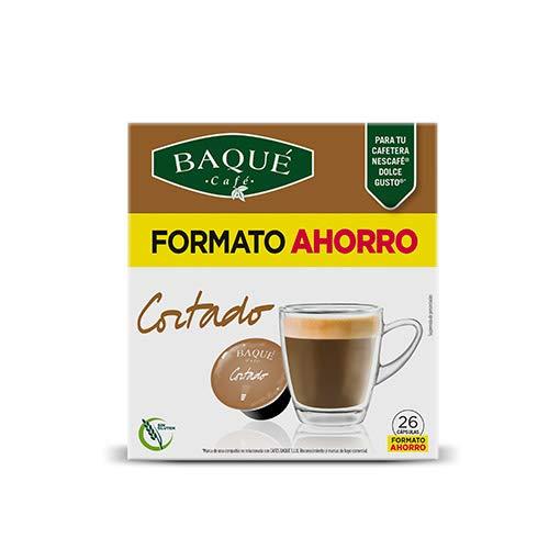 Cafés Baqué 26 Capsulas Compatibles Dolce Gusto Café Cortado 156 g ...