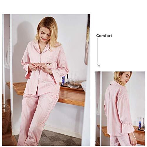 Cm Tamaño El 170 Mujeres Y Sleepwear Hogar Para Sin Deformación color Decoloración Ropa Rosa Home w7qFqxt6A