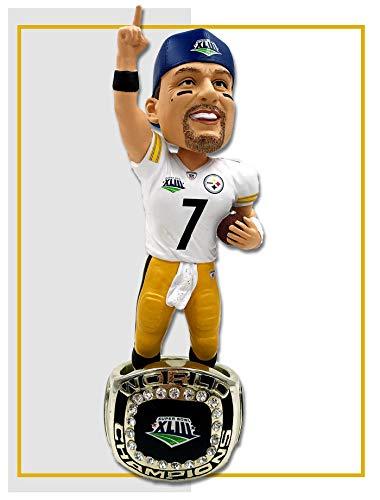Ben Roethlisberger (Pittsburgh Steelers) Super Bowl XLIII Championship Ring Base NFL Bobblehead Exclusive #/750