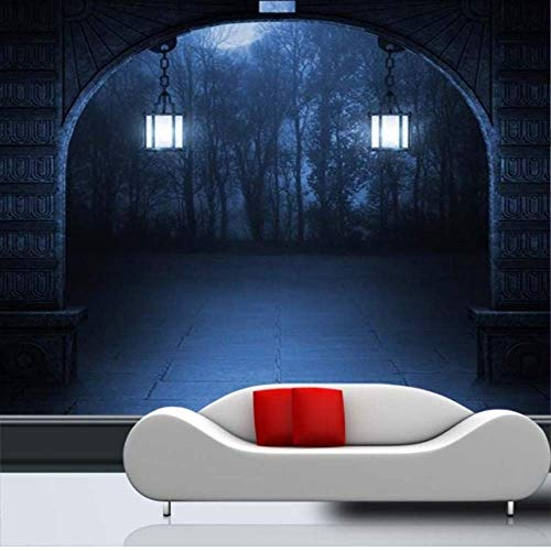 (Pbldb Custom Photo Wallpaper Halloween Theme Wallpaper Horror Dark Mystery Scary Entrance Aisle Corridor Hallway Mural)