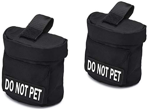Industrial Puppy Do Not Pet Dog Vest Saddlebag with Do Not Pet Patches | Do Not Pet Backpack with Patch - Quality Back Pack Pouch with Pockets | Saddle Bag ()