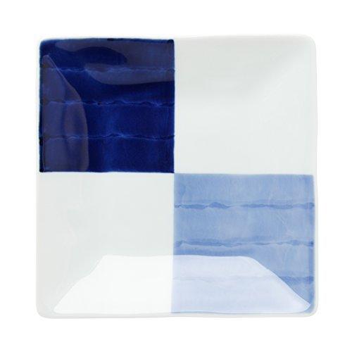 Arita Ware Manchado Placa cuadrada cuadrada cuadrada japonesa (mediana) 16 cm Ocean sta 0480