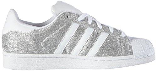 adidas Damen Superstar Sneakers Silber Silver Met.FTWR