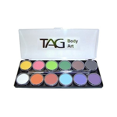 Tag Face Paint Palette Regular 12 Colors by TAG Body Art