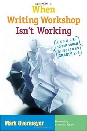 Amazon.com: When Writing Workshop Isn't Working: Answers to Ten ...