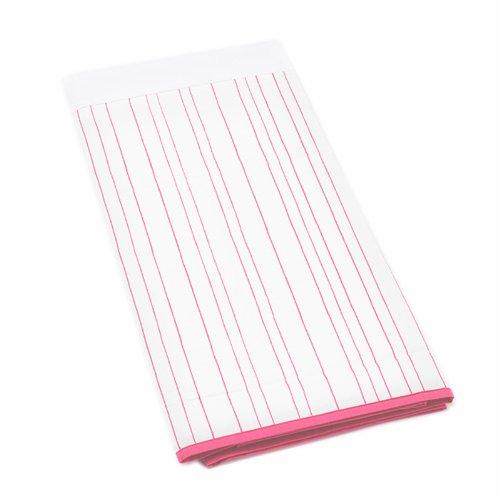 Auggie Painted Stripe Crib Skirt, Pink