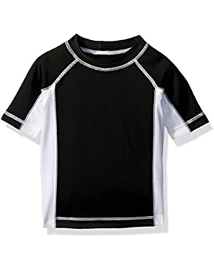 Baby Toddler Boys' Blk White Rshgaurd
