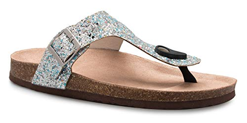 322dd50bb6b OLIVIA K Women s Casual Buckle T Strap Thong Strap Sandals Flip Flop  Platform Footbed