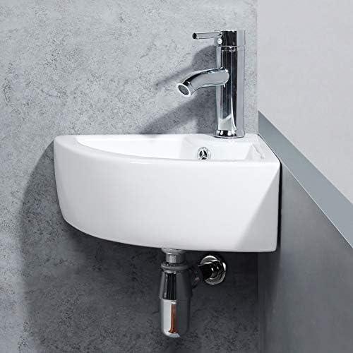 lavabo ovalado Lavamanos Cuarto de Ba/ño 50x40 Lavabo de cer/ámica Lavabo sobre encimera