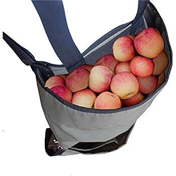 Garden Fruit Picking Apron - Large Fruit Picking Bag Heavy Duty Oxford Cloth Kitchen Harvest - Green Storage Pockets for Fruits Vegetables with ...