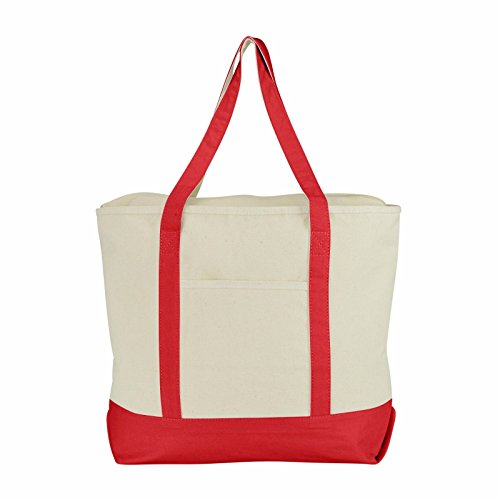 "ImpecGear 22"" Deluxe Heavy Duty Zippered Cotton Canvas Tote"