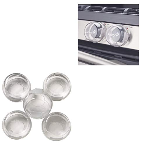 Safety Knob Covers 1st 5 Pack Clear View Stove Knob Hinged Covers Child Proof - Oven Handle Covers - Stove knob Covers for Child Safety - Stove knob Covers - Child Safety Door knob Covers. by Home & Comforts (Image #4)