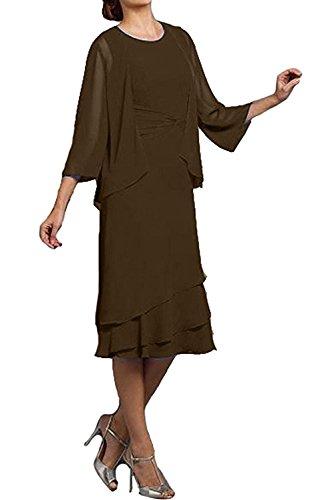trapecio para Vestido marrón Topkleider mujer wXx0PnOH1q