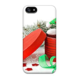 For Iphone 5/5s Tpu Phone Case Cover(christmas Snowman Gifts)