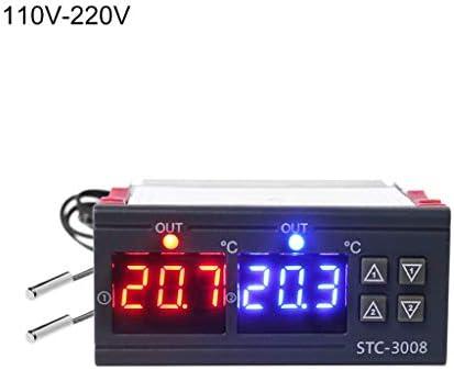Biuuu 10A AC110V 220Vを冷却するデジタル温度調節器の二重サーモスタットの暖房