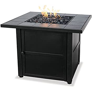 Endless Summer, GAD1399SP, LP Gas Outdoor Fire Bowl with Slate Tile Mantel