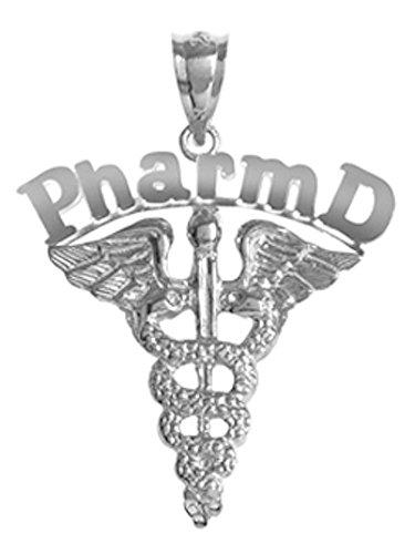 NursingPin - Doctor of Pharmacy Pharm D Charm in Silver for Pharmacists