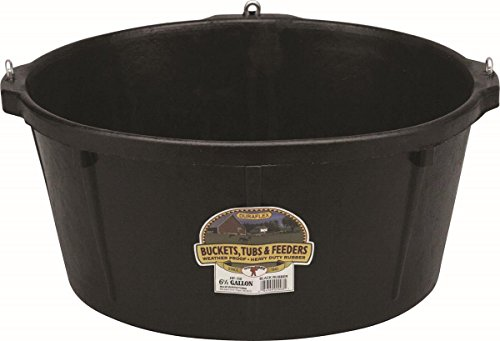 Little Giant Rubber Feeder Tub with Hooks, - Rubber Tub Feeder