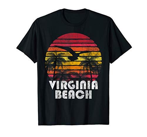 Virginia Beach Vintage Retro 70's 80's Style Men Women Gift T-Shirt]()
