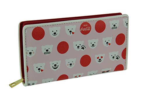 (Coca-Cola Polar Bear Emoji Wallet in Vinyl Material)