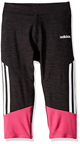 adidas Girls' Toddler Capri Legging, Stripe Black a, 2T (Toddler Hip T-shirts)
