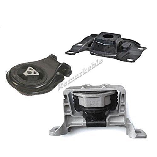 (Remarkable Power 2004-2009 Mazda 3 2.3L Trans Engine Motor Mount Set w/Hydraulic G089)