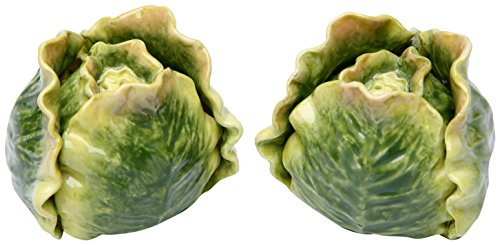 Green Cabbage Vegetable Salt and Pepper Shaker Set