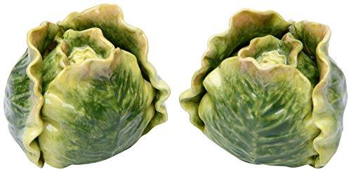 Green Cabbage Vegetable Salt and Pepper Shaker Set
