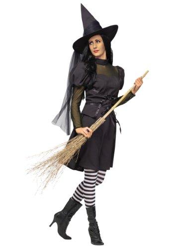 Funworld Womens Ms. Wicked Witch Theme Party Fancy Dress Halloween Costume, Plus (16-22) (Wicked Witch Fancy Dress)