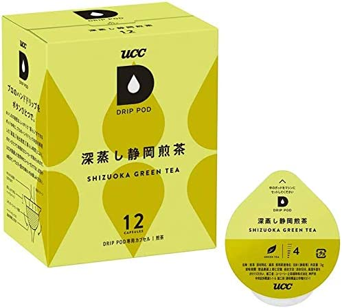 UCC ドリップポッド 専用カプセル 深蒸し静岡煎茶 12杯分 36g ポッド・カプセル