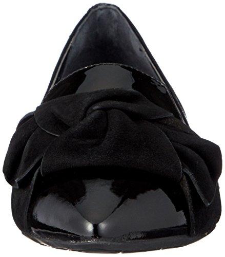 Black ROCKPORT Luxe Manoletinas W 37 Zuly Bow rXqOXwn7E