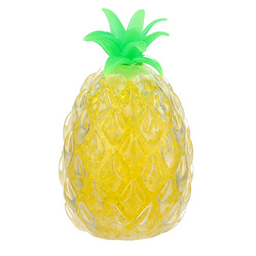 Hisoul Hot  Squeeze Toy Pineapple Spongy Bead Squishies Stress Relief Hand Wrist Toys for Kids and Adults (Yellow) ()