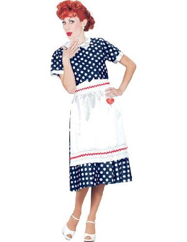 Blue Polka Dot Dress Costume (I LOVE LUCY POLKA DOT DRESS LG)