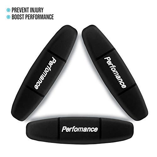 Alien Pros Performance Tennis Racket Dampeners (3 Pack, Black) - Perfect Tennis Shock Absorbers stabilize Your Strings for Optimal Performance - Tennis Dampeners Set (3 Pack, Black)