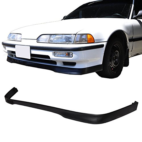 Front Bumper Lip Fits 1990-1991 Acura Integra All Model T-R Style Spoiler Splitter Valance Fascia Cover Guard Protection Conversion by IKONMOTORSPORTS ()