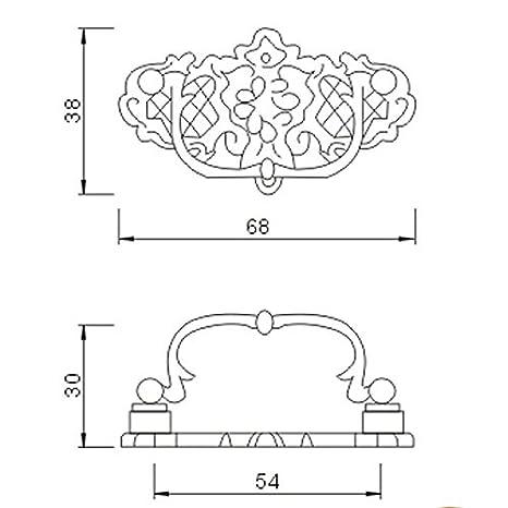 Probrico Antike Bronze T/ürgriffe M/öbelgriff Messing antik M/öbelknopf Ringgriff PS2172AB
