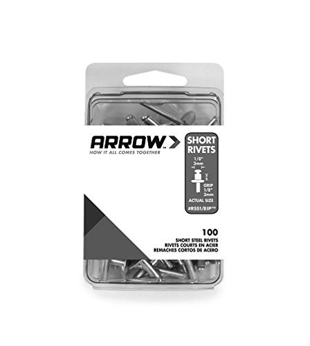 Arrow Fastener RSS1/8IP Short Steel 1/8-Inch Rivets, 100-Pack ()