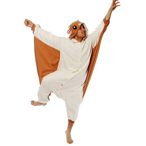[Flying Squirrel Kigurumi - Adult Halloween Costumes Pajama] (Squirrel Halloween Costume)