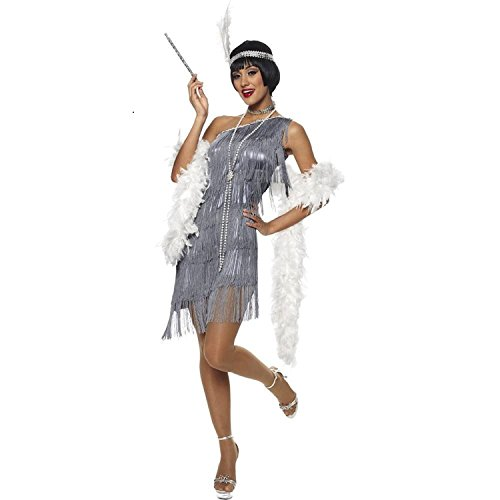 Shoes Flapper 1920 (Dazzling Gun Metal Flapper Adult Costume)