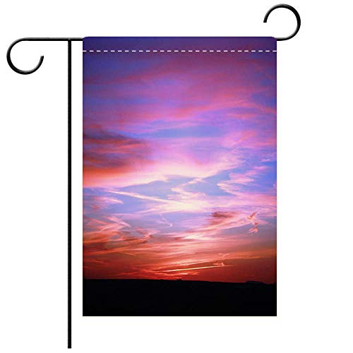 BEICICI Double Sided Premium Garden Flag Sunset Over Painted Desert in Petrified Forest National Park USA Best for Party Yard and Home Outdoor Decor