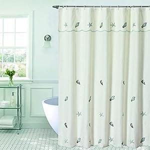 41C-LfON2hL._SS300_ 200+ Beach Shower Curtains and Nautical Shower Curtains